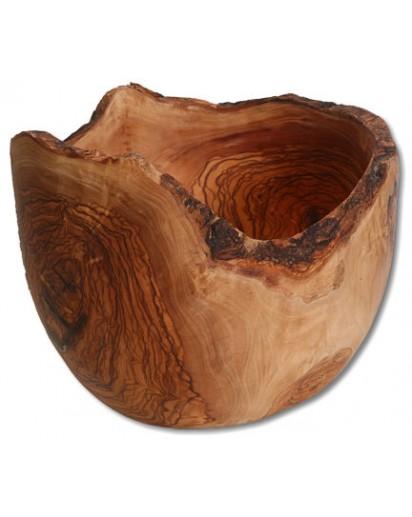 Fruit Bowl Round Olive Wood Natural