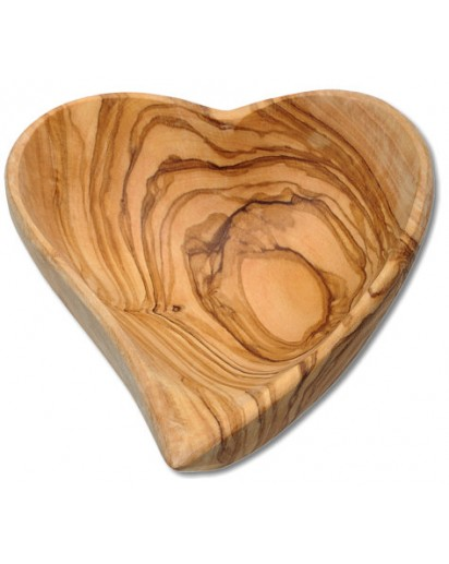 Bowl Heart Shaped Olive Wood