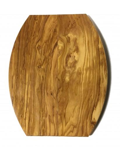 Olivenholz Brett oval, gekantet, ca. 27 x 22 cm