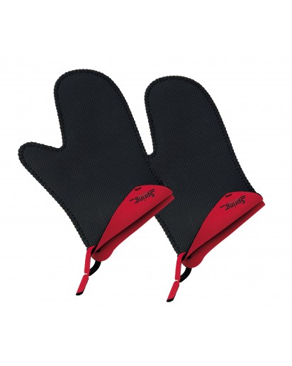 Spring: Grips Stove Mittens Short Red, 1 Pair