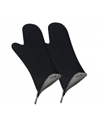 Spring: Grips Stove Mittens Long Grey, 1 Pair