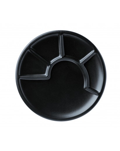 Spring: Fondue Plate 23 cm, Black