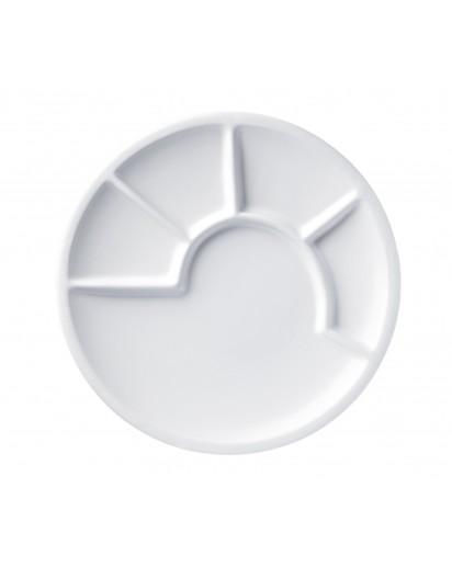 Spring: Fondue Plate 23 cm, White