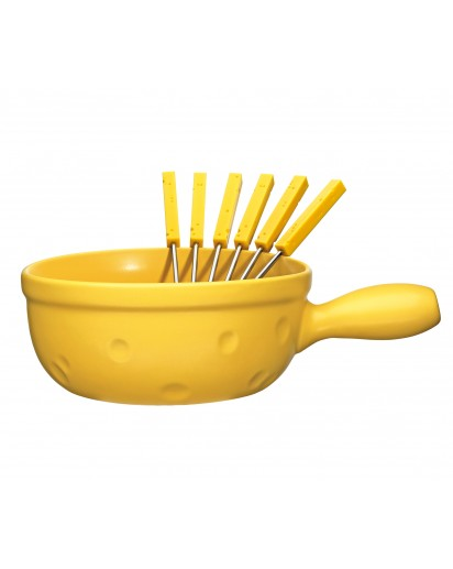 """Spring: Cheese Fondue Caquelon """"Cheese"""" with Forks, 24 cm"""