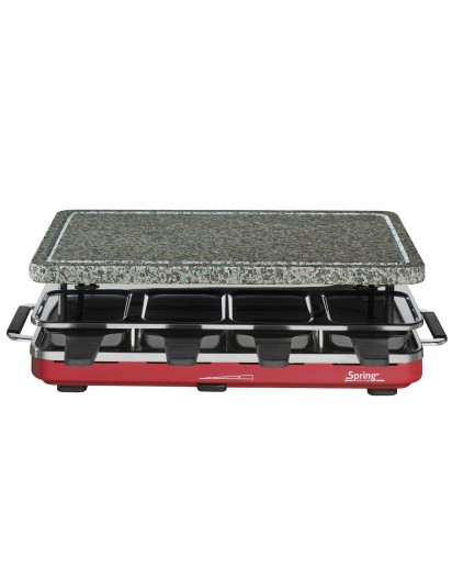 Spring: Raclette8 with Granite Stone, Red