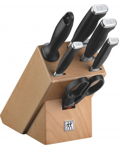 Zwilling: Twin Four Star II Knife Block 7pcs, natural wood