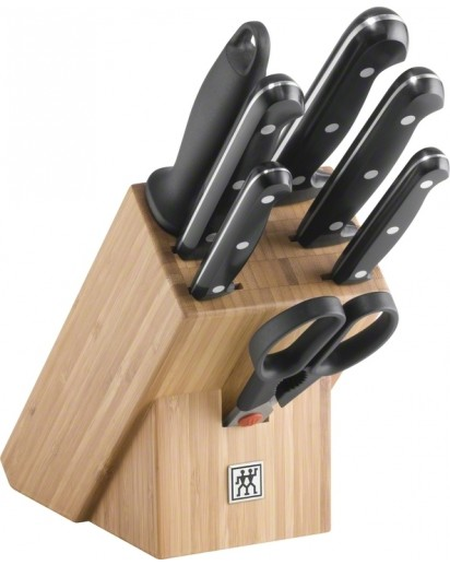 Zwilling: Twin Chef Knife block, bamboo, 8pcs.