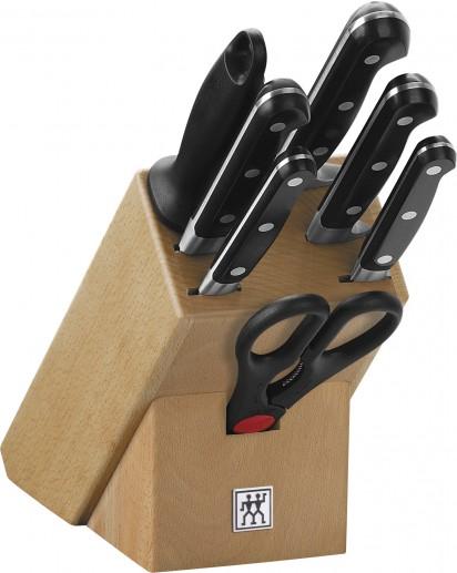 Zwilling: Professional 'S' Knife block, natural wood, 8 pcs.