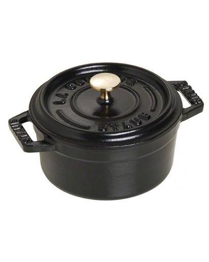 Staub: Round Mini Cocotte, 10 cm, black