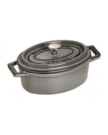 Staub: Oval Mini Cocotte, 11 cm, grey