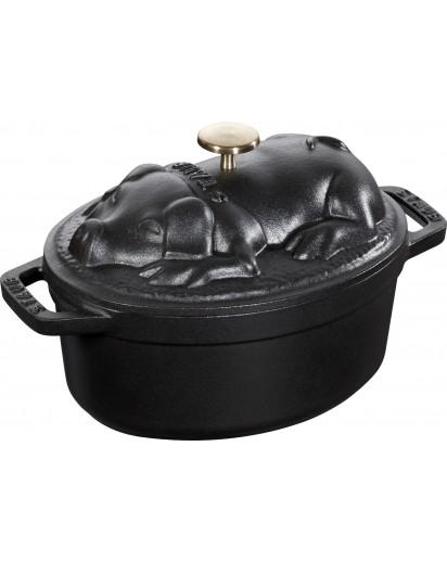 Staub: Pig Cocotte, 17 cm, black