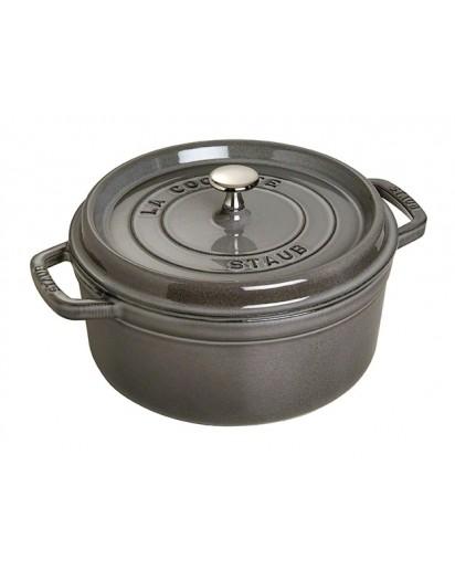 Staub: Round Cocotte 26 cm, graphite grey