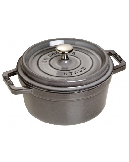 Staub: Round Cocotte, 20 cm, graphite grey