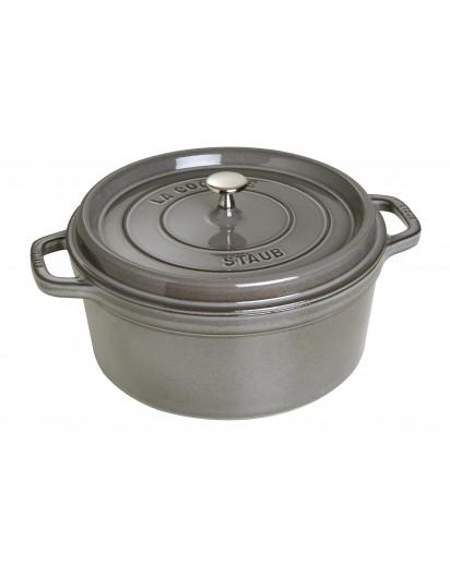 Staub: Round Cocotte 28 cm, graphite grey