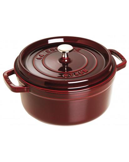 Staub: Round Cocotte 24 cm, grenadine red