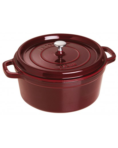 Staub: Round Cocotte 28 cm, grenadine red
