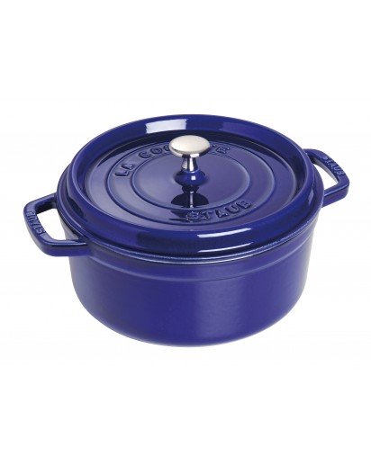 Staub: Round Cocotte 24 cm, dark blue
