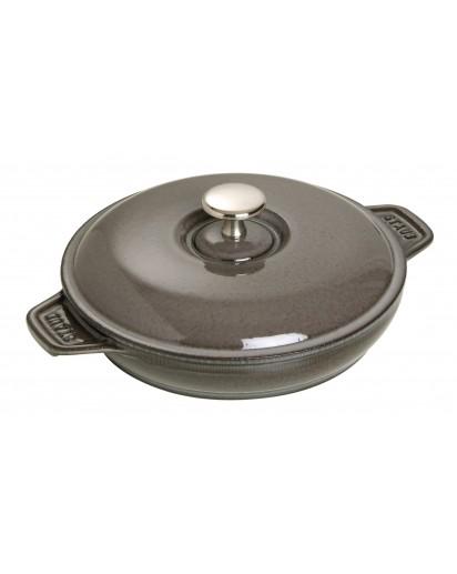 Staub: Round Kasserolle with cast iron lid, 20 cm, grey