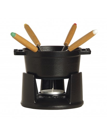 Staub: Mini Chocolate Fondue Set 10 cm, Black