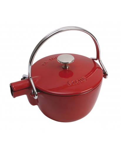 Staub: Round teapot, 16.5 cm, cherry