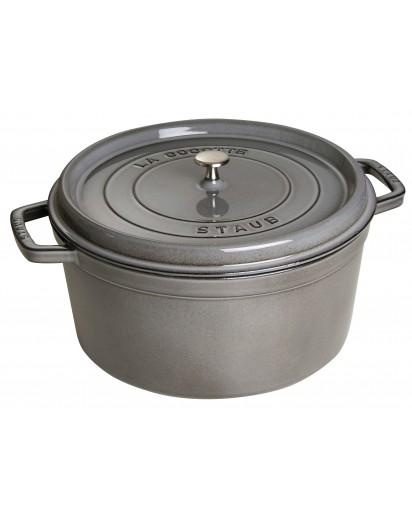 Staub: Round Cocotte 34 cm, graphite grey