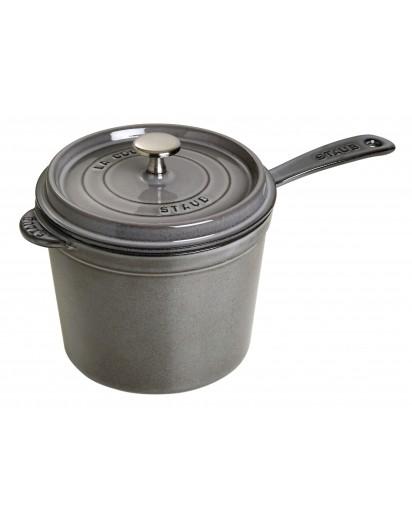 Staub: Saucepan 18 cm, grey