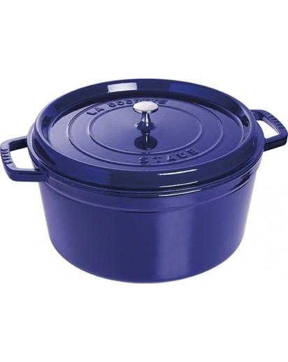 Staub: Round Cocotte 30 cm, dark blue