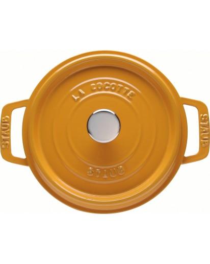 Staub: Round Cocotte 24 cm, mustard