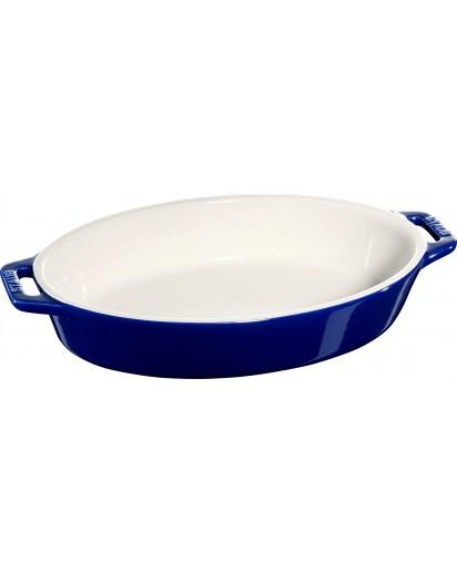 Staub: Auflaufform, oval, 28,4x17,4cm, blau
