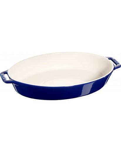 Staub: Auflaufform, oval, 44x26cm, blau
