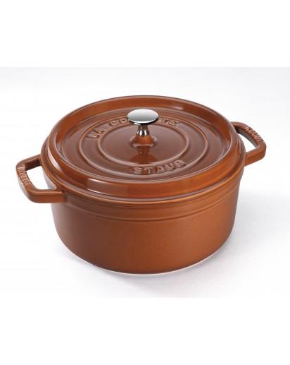 Staub: Round Cocotte 22 cm, cinnamon