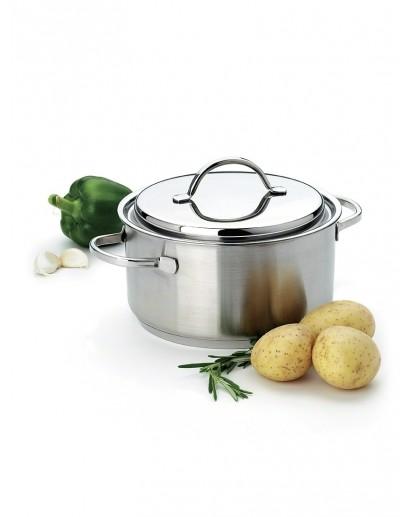 Demeyere: Casserole/saucepot Resto with lid 28 cm