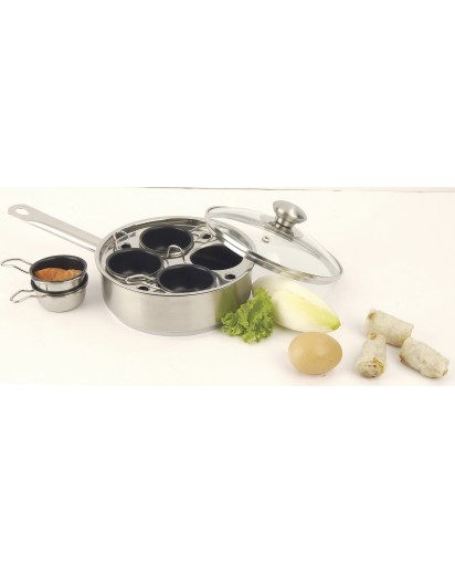 Demeyere: Gourmet pan 18 cm with 4 inserts