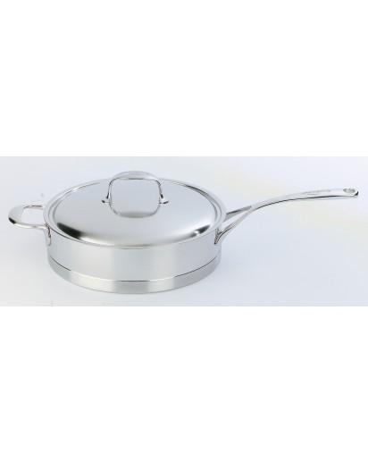 Demeyere: Low sauce pan Atlantis with lid 28 cm