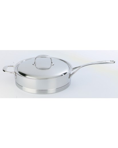 Demeyere: Low sauce pan Atlantis with lid 24 cm