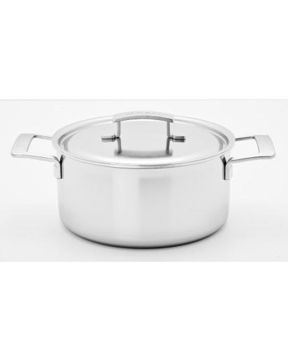 Demeyere: Casserole/saucepot Industry with lid 18cm