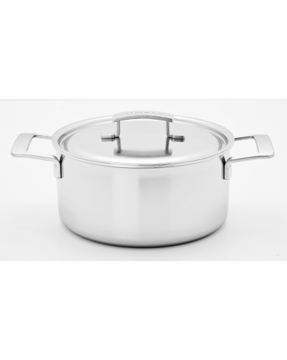 Demeyere: Casserole/saucepot Industry with lid 24cm