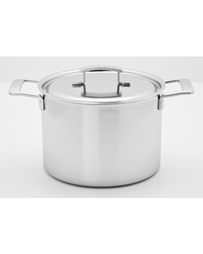 Demeyere: Deep stockpot Industry with lid 28cm