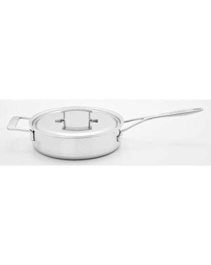 Demeyere: Saucepan Industry low with lid 28 cm
