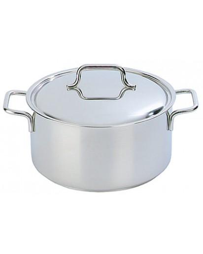 Demeyere: Casserole/saucepot Apollo with lid 22 cm