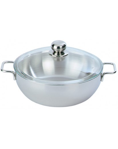 Demeyere: Conical Dutch oven Apollo with glass lid 24 cm