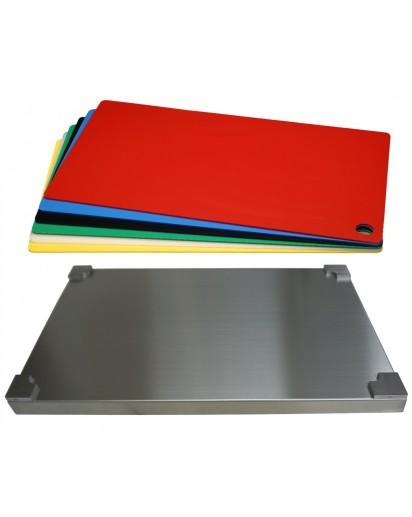 Selexions: Top Board Edelstahl Schneidbrett + 6 farb. Einlagen, GN1/1