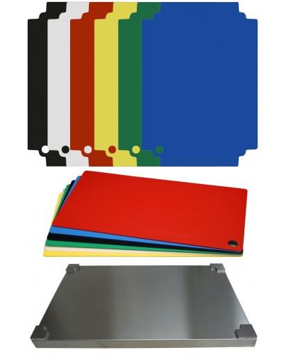 Selexions: Top Board Edelstahl Schneidebrett + 12 farb. Einlagen, GN1/1