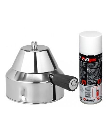 Kisag: Bunsen Burner for Laboratory + 1 Kigas Refill Can 400 ml