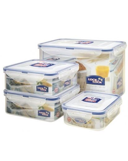 Lock & Lock: 4-Piece Set Containers 6.0 l (HPL829O4)