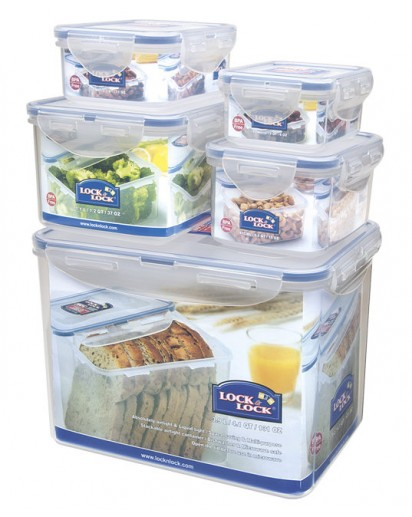 Lock & Lock: 5-Piece Set Containers 3.9 l (HPL829SB)