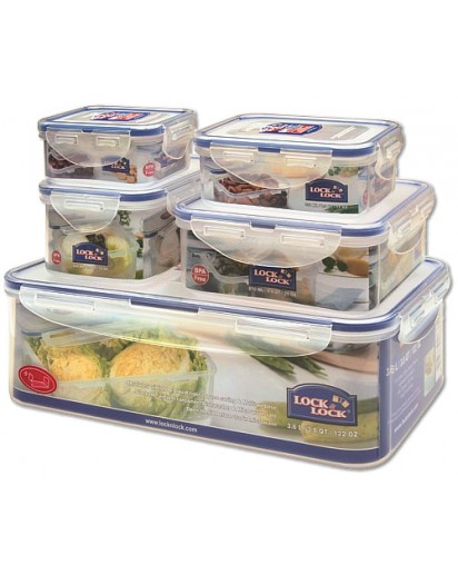 Lock & Lock: 5-Piece Set Containers (HPL833O5)