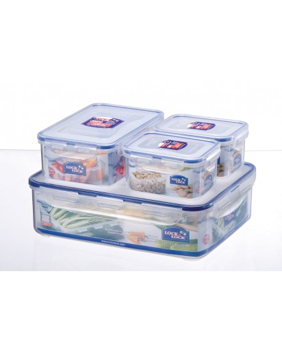 Lock & Lock: 4-Piece Set Containers  (HPL834SA)