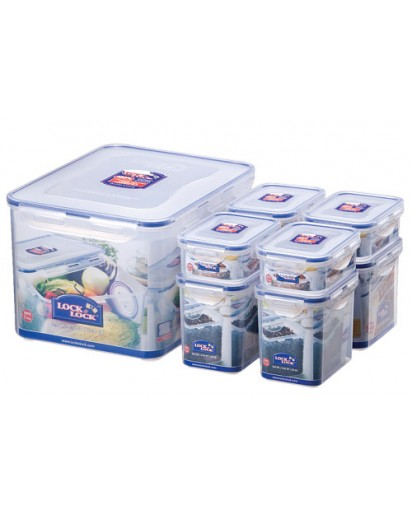 Lock & Lock: 8-Piece Set Containers (HPL838SA)