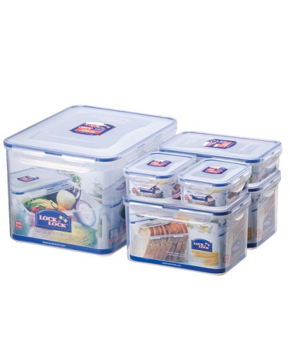 Lock & Lock: 6-Piece Set Containers (HPL838SD)